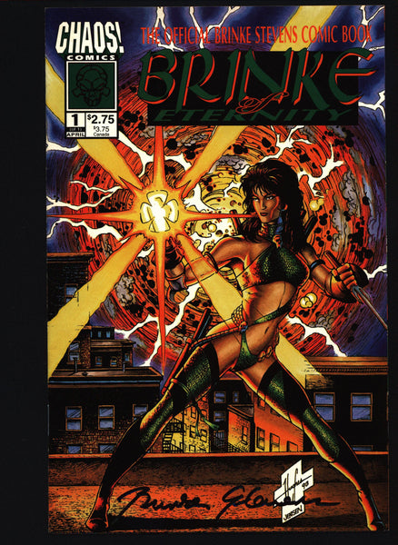 SIGNED BRINKE of Eternity #1 Brian Pulido, Brinke Stevens, Mike Holliman, Science Fiction Fantasy SF Horror Pin Up Comic Book