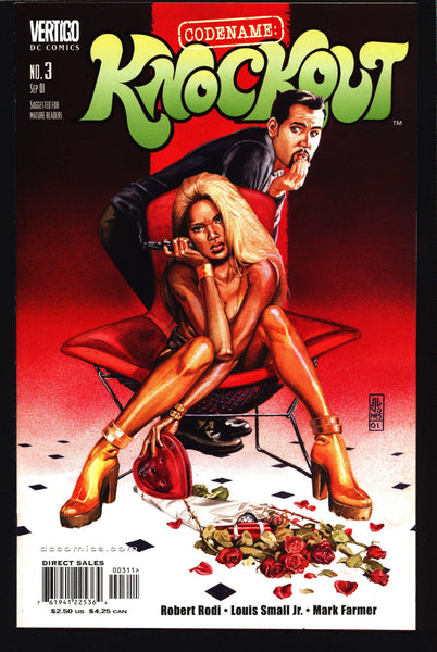Codename: KNOCKOUT #3  Robert Rodi Louis Small, Sexy Adult Pin Up Man From UNCLE James Bond Spy DC Comics Vertigo