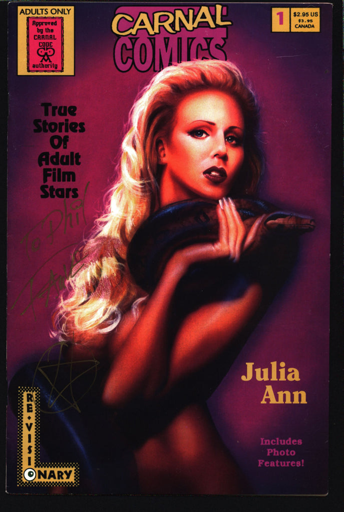 Carnal Comics: Julia Ann #1 SIGNED True Stories of Adult Film Stars, Jay