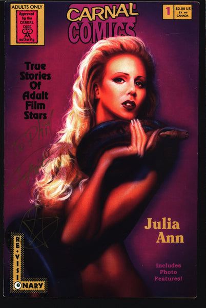 Carnal Comics: Julia Ann #1 SIGNED True Stories of Adult Film Stars, Jay Allen Sanford,Pretorius, Fauve Comic Book