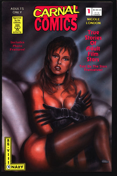Carnal Comics: Nicole London #1 True Stories of Adult Film Stars, Larry Nadolsky, Miller, Comic Book