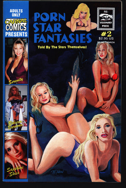 C a r n a l Comics Presents P O R N Star Fantasies #2 True Stories of Adult Film Stars, Rebecca Bardoux,Serenity,Sapphire Skies, Comic Book