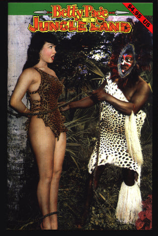BETTY PAGE in Jungleland Vintage BDSM Pin Up Photos of Bettie Page by Bunny Yeager