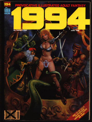 "1994 #25 Warren Magazine Esteban Maroto,Rudy Nebres,Alex Niño,Frank Thorne,Ghita, Provocative""illustrated adult fantasy""erotic,sex,BDSM"