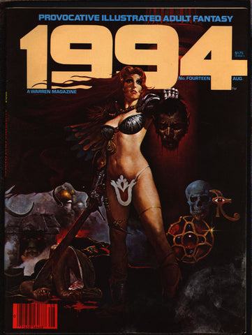 "1994 #14 Warren Magazine Sanjulian,Laxamana,Alex Niño,Jose Ortiz,Frank Thorne,Ghita,Provocative ""illustrated adult fantasy""erotic,sex,BDSM"