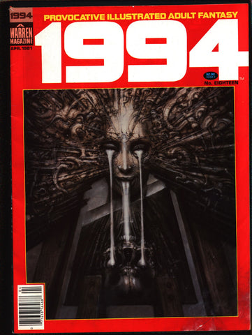 "1994 #18 Warren Magazine Alex Niño,H. R. Giger,Frank Thorne,Rudy Nebres,Vic Catan, Provocative ""illustrated adult fantasy""erotic,sex,BDSM"