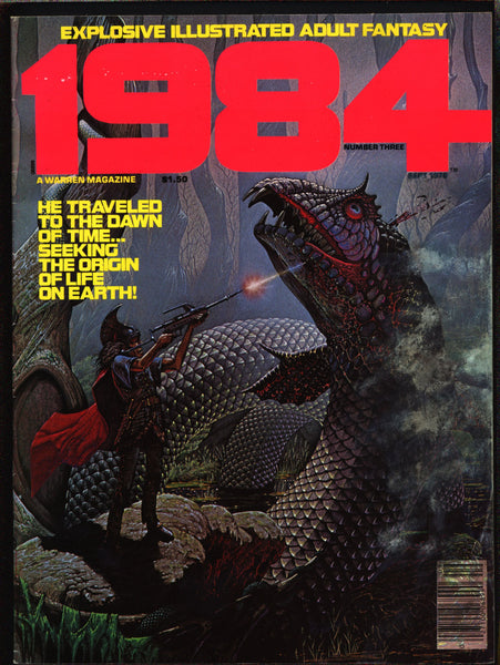 "1984 #3 Warren Magazine Richard Corben, Alcala,Laxamana,Maroto,Nebres,Niño,Ortiz,Provocative""illustrated adult fantasy""erotic,sex,BDSM"