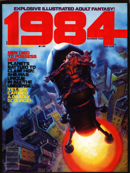 "1984 #2 Warren Magazine Richard Corben,Alcala,Maroto,Nebres,Niño,Ortiz, Wally Wood,Provocative""illustrated adult fantasy""erotic,sex,BDSM"