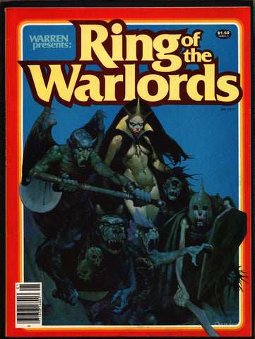 Warren Presents Ring Of The Warlords Comix Magazine, Dax the Destroyer, Merlin, Barbarian, Fantasy, Esteban Maroto, Gonzalo Mayo, Wally Wood