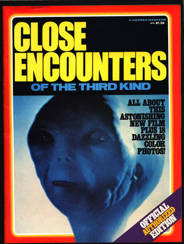 Warren Magazine, Close Encounters of the Third Kind: Official Authorized Edition, 1977 Alien Movie, Forrest J Ackerman,Steven Spielberg CE3K