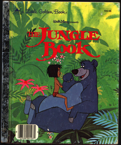 Walt Disney Presents the Jungle Book, Little Golden Readers, Rudyard Kipling,Golden Book,Mowgli,Shere Khan,India,Animated,Cartoon