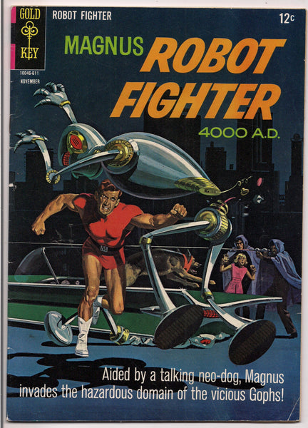 Magnus, Robot Fighter #16, Gold Key comics, Russ Manning, Illustrated Sci Fi Pulp Space Action