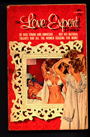 The Love Expert, ADULT,Mature,Vintage,Explicit,Erotic,Fiction,Sleaze, Paperback book