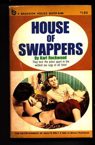 House of Swappers,Brandon Books 6186,Vintage Paperback book