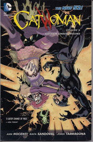 CATWOMAN, Gotham Underground Volume 4, Selina Kyle,DC Comics,Ann Nocenti,Soft Cover,girl power,Batman, Dark Knight,Graphic Novel Collection,