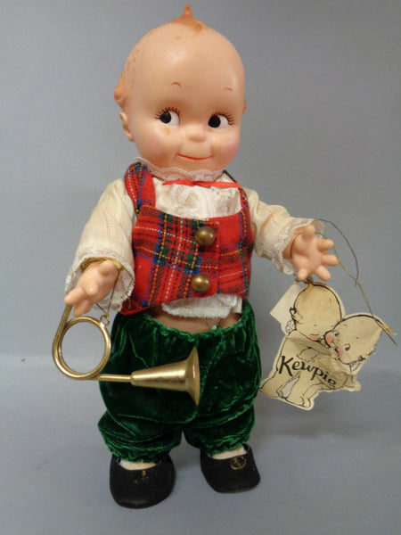 KEWPIE Cameo, Doll, hang tag attached,figure with horn, Jesco, Goes to Series, 1986