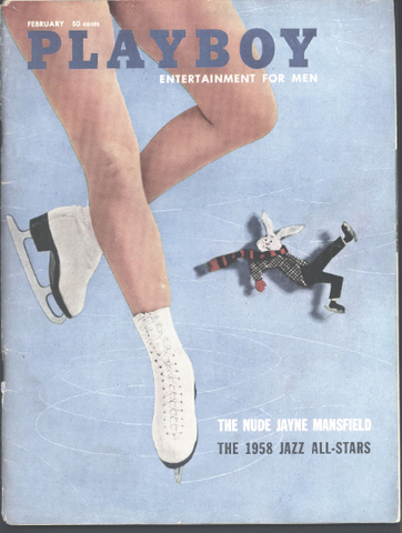 Hugh Hefner,PLAYBOY Magazine,Feb 58,BEATNIKS,Beat Generation,Jayne Mansfield,Arthur C. Clarke,William Safire,Herbert Gold,Jazz All-Stars,tnt