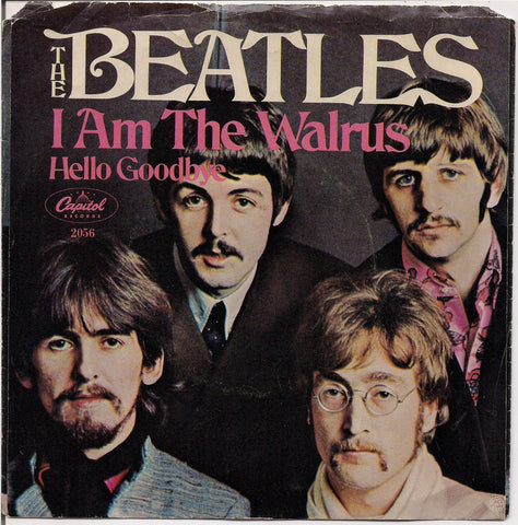 "BEATLEmania! 7"" Picture Sleeve,Hello Goodbye, I Am the Walrus,John Lennon,Paul McCartney,George Harrison,Ringo Starr,British Invasion"