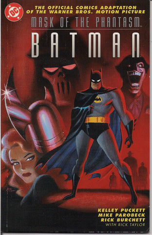 BAT-MAN, Mask of the Phantasm, The Animated Movie, Digest sized paperback Graphic Novel, DC COMICS, Prestige Edition,Kelley Puckett, Mike Parobeck