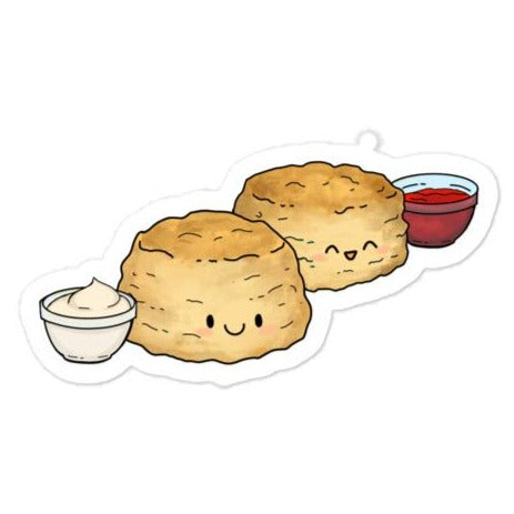 Cute Scones with Jam Sticker