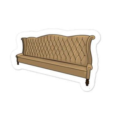 Gold Couch Sticker