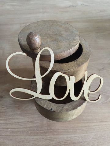Laser Cut Wood Word | Love