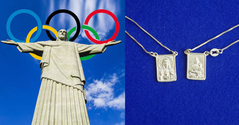 scapular escapulario Brasil sterling silver necklace