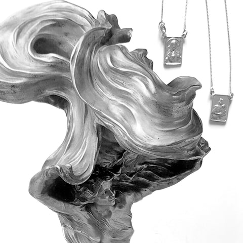escapulario scapolar sterling silver necklace made in italy idea from Brasil www.mariasalvador.it