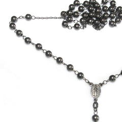 mariasalvador.it men rosary beads necklace rosario da uomo in argento