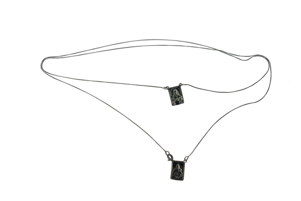 Scapular escapulario sterling silver necklace #MS019CL - MARIA SALVADOR