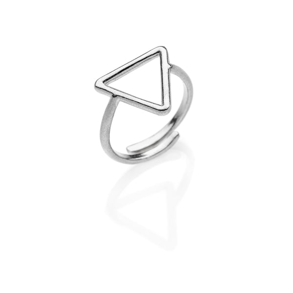 PITAGORA Triangle ring 925 sterling silver #MS061AN - MARIA SALVADOR