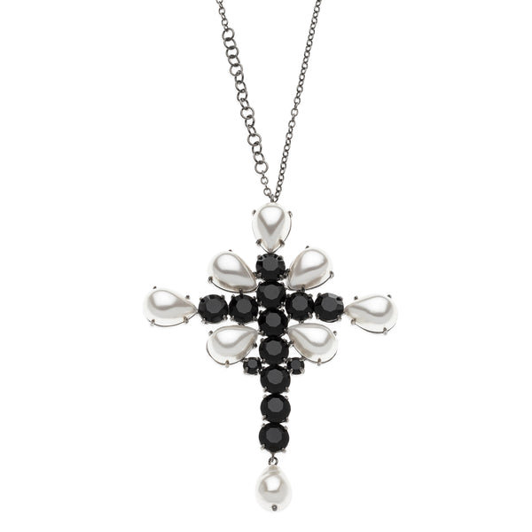 DIANA cross Swarovski Necklace #MS004CL - MARIA SALVADOR