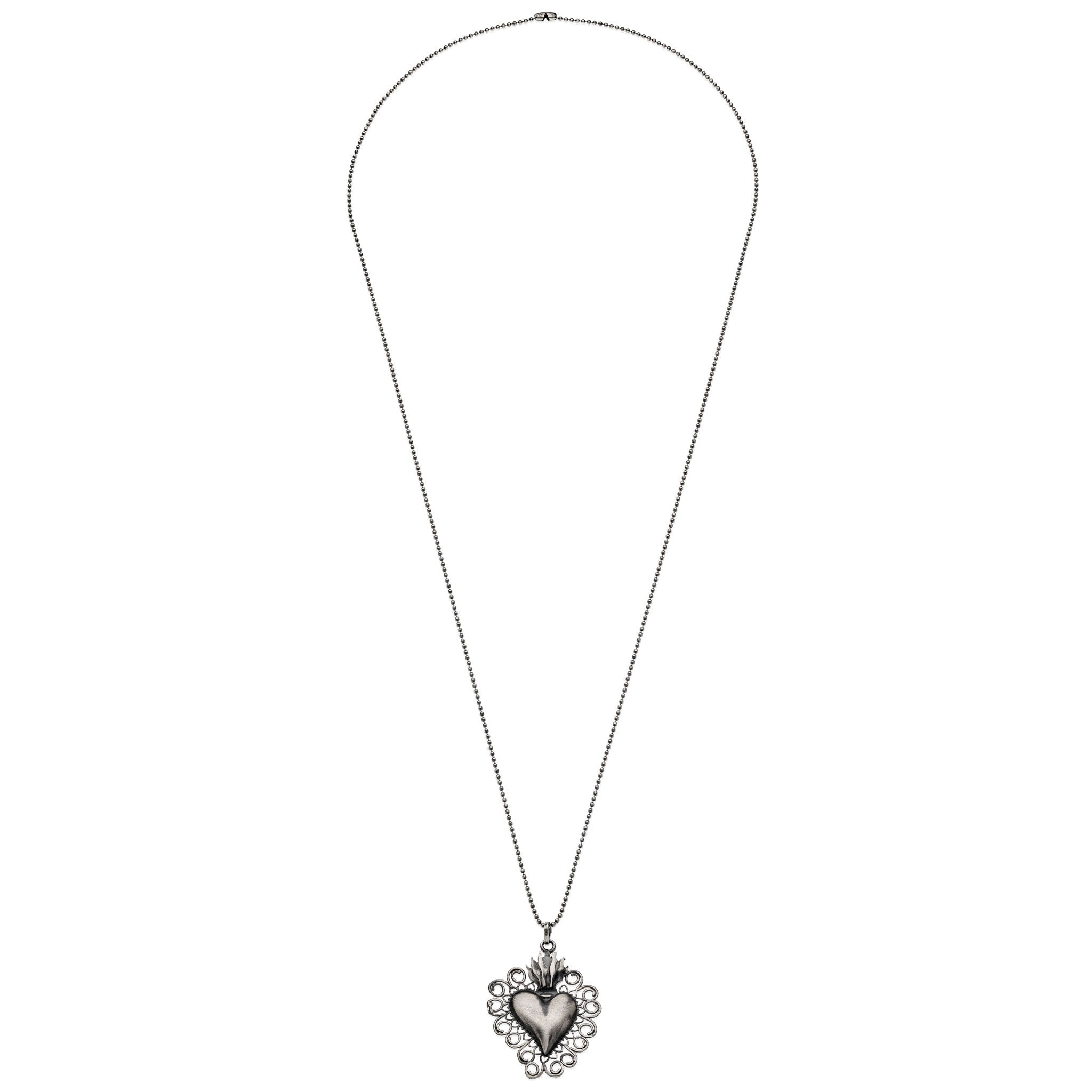 pendant in signature heart silver jewelry gucci sterling lyst product necklace gallery