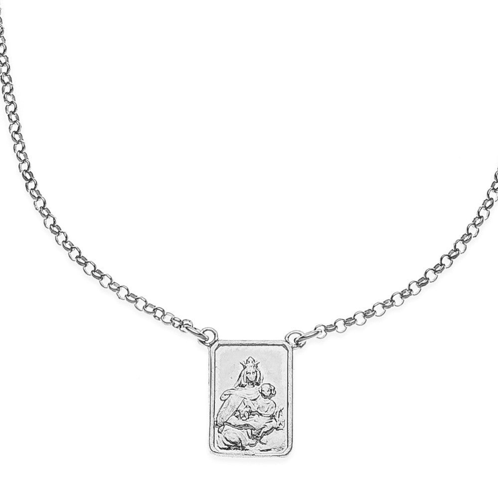Scapular escapulario sterling silver necklace #MS020CL - MARIA SALVADOR