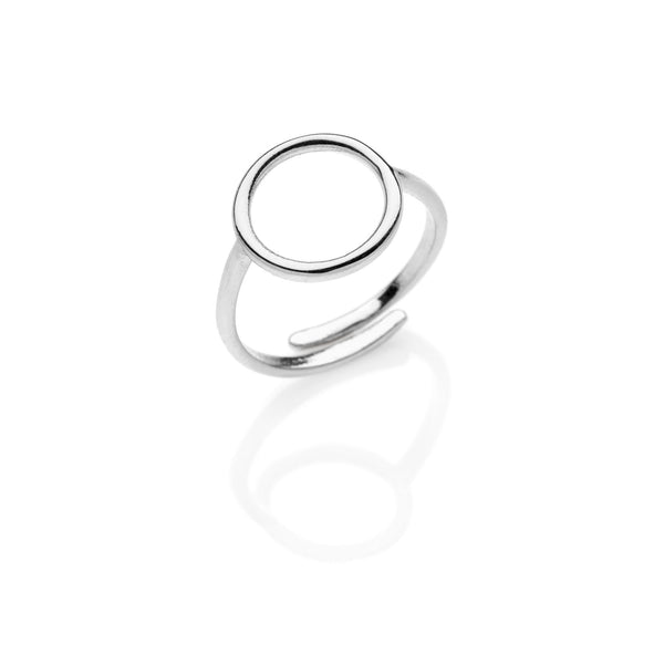 Circle PITAGORA 925 sterling silver ring #MS059AN - MARIA SALVADOR