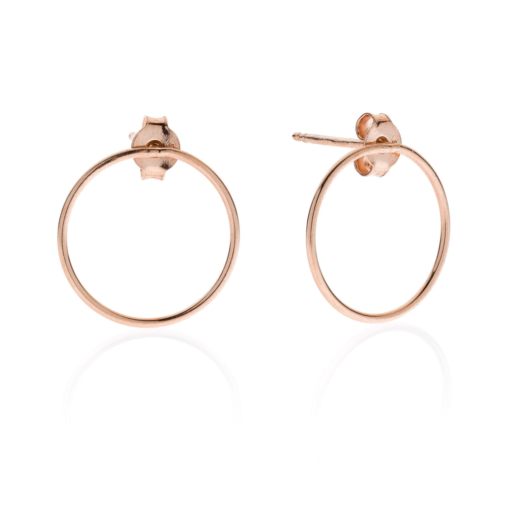 Circle PITAGORA sterling silver 925 earrings #MS046OR - MARIA SALVADOR