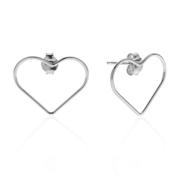 Heart PITAGORA sterling silver 925 earrings #MS045OR - MARIA SALVADOR