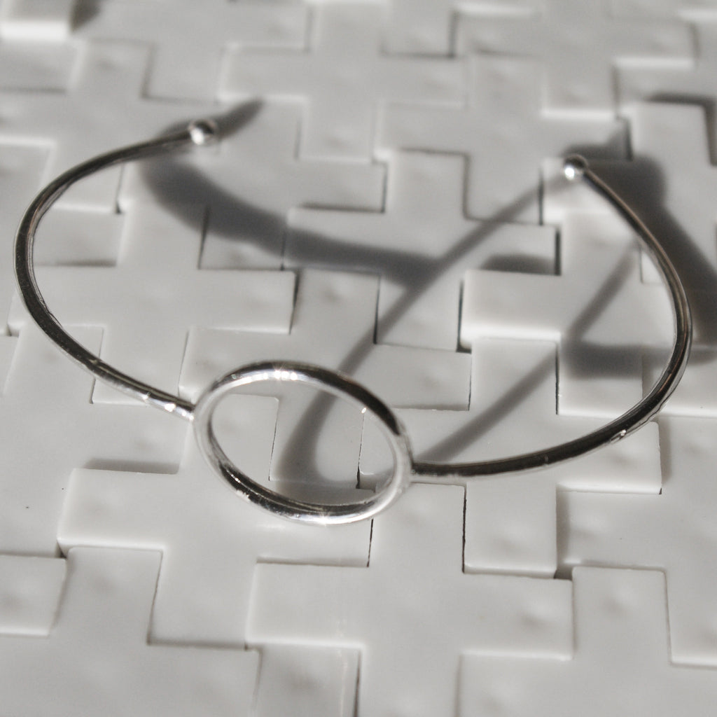 PITAGORA sterling silver circle bracelet #MS033BR - MARIA SALVADOR