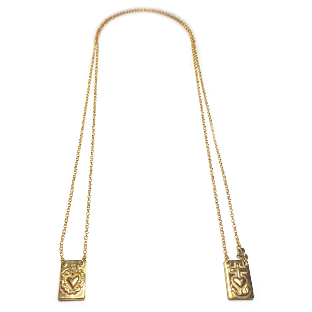 Escapulario Hope Faith Love necklace #MS103CL - MARIA SALVADOR