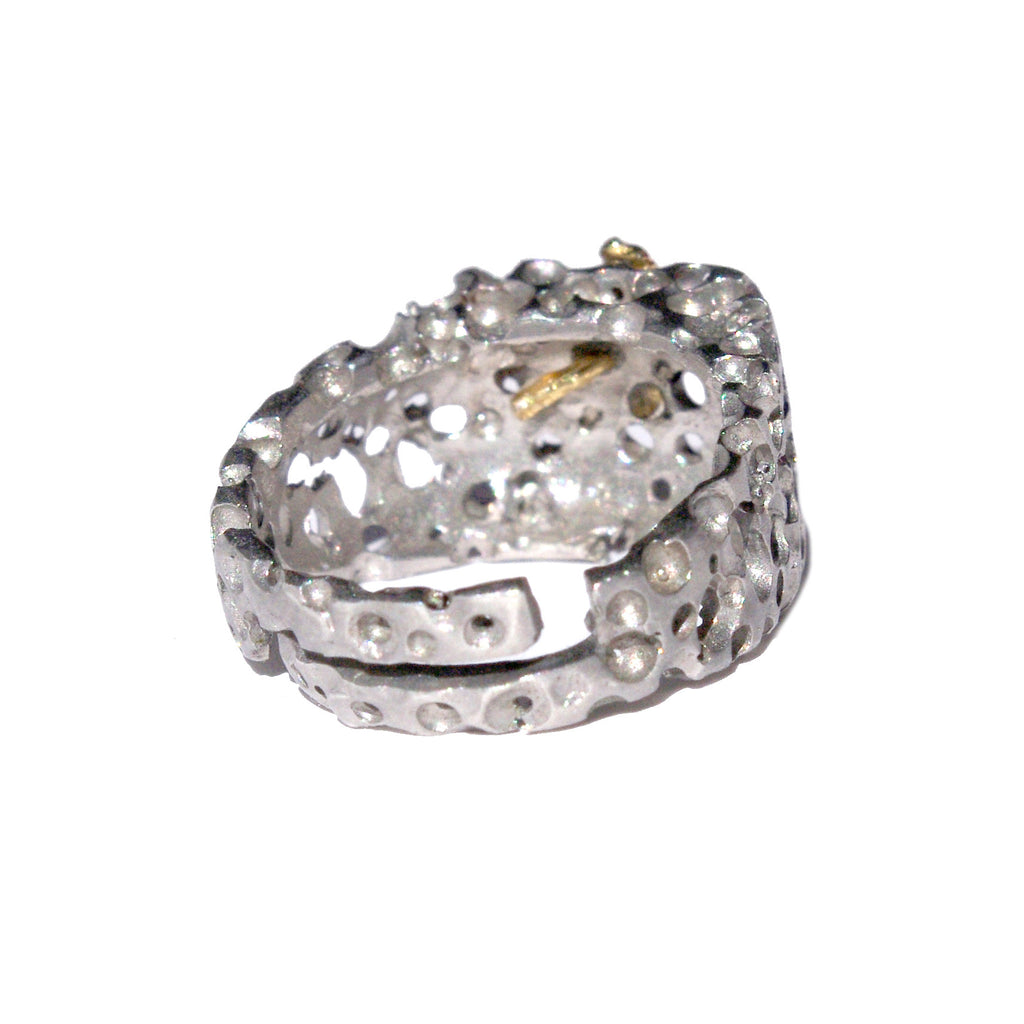 CORAZON 925 sterling silver ring #MS083AN/w - MARIA SALVADOR