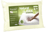 Premium Brazilian Natural Latex Classic Shape Cervical Pillow with 100% Percale Cotton Cover - FIRM