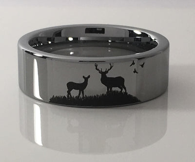 Tungsten Carbide Buck and Doe Ring