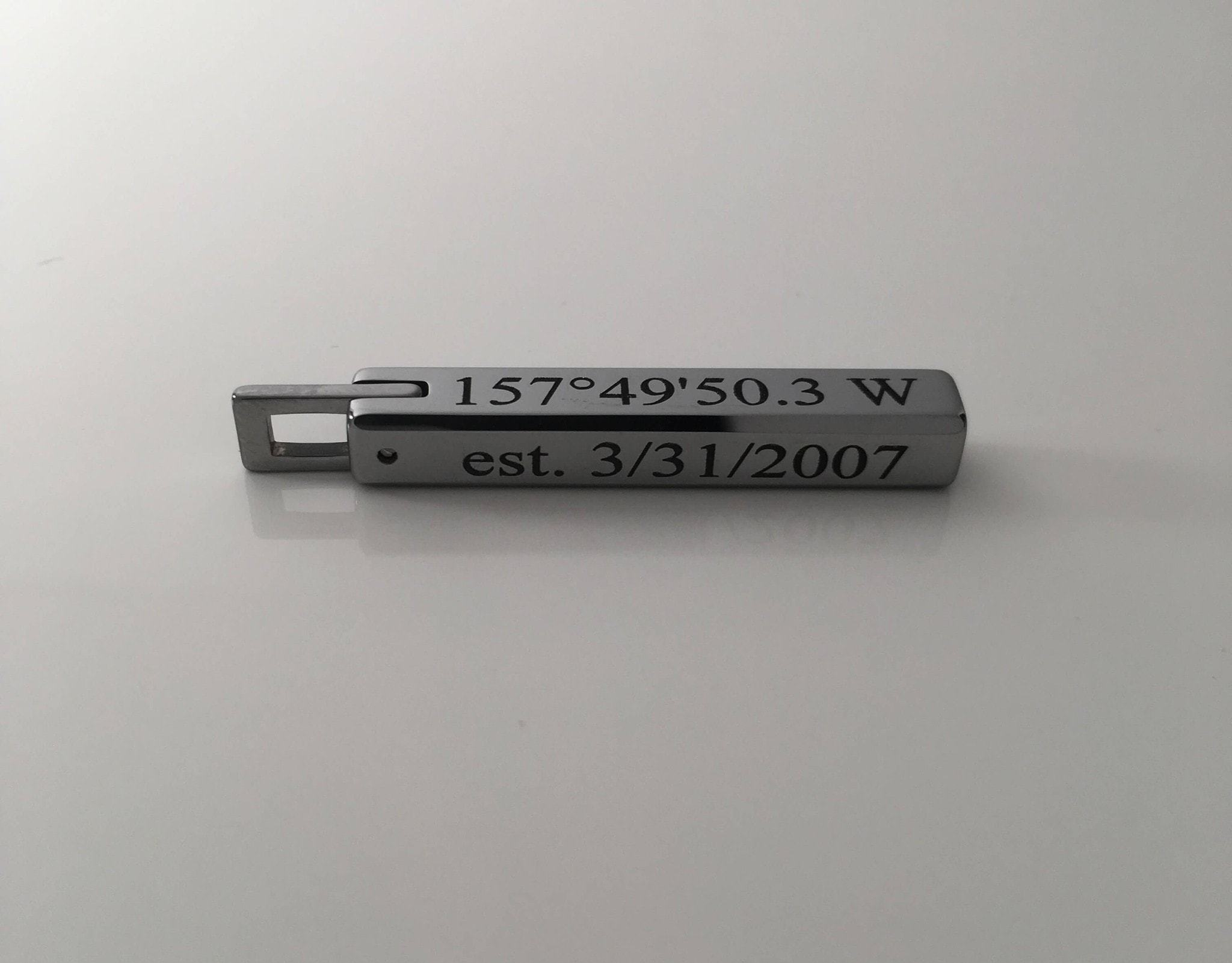 Tungsten bar pendant necklace aloadofball Choice Image