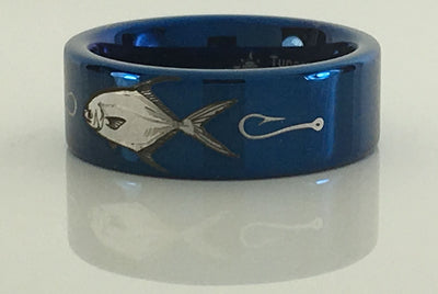 Tungsten Carbide Permit Fish Ring