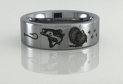Tungsten Carbide Turkey  and Bass Ring