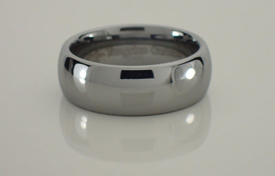 8mm Tungsten Carbide Domed Ring
