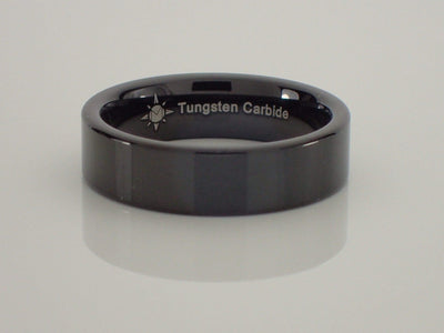 6mm Tungsten Carbide Pipe Style Ring