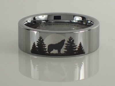 Wolf Forest Scene Ring