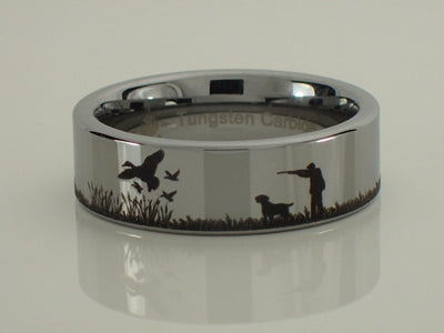 Duck Hunting Scene Ring