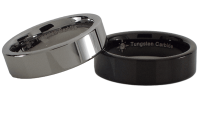 Custom 6mm Tungsten Carbide Pipe Style Ring